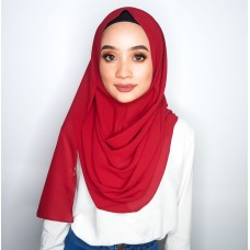 Instant Shawl 1.0 Chiffon (Crimson Red)