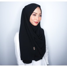 Instant Shawl 1.0 Georgette (Black Widow)