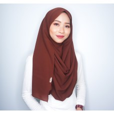 Instant Shawl 1.0 Georgette (Chocolate)