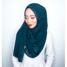 Instant shawl 1.0 (Herringbone Series - Emerald Green)