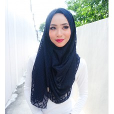 Instant shawl 1.0 (Herringbone Series - Midnight Blue)