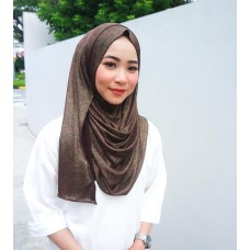 Instant shawl 1.0 (Iron free series - Metallic Chestnut)