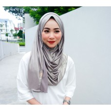 Instant shawl 1.0 (Iron free series - Metallic Misty Grey)