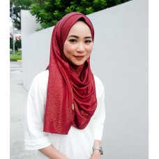 Instant shawl 1.0 (Iron free series - Metallic Cranberry Red)
