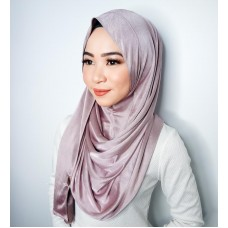 Instant shawl 1.0 (Iron free Silky series - Heather Mauve)