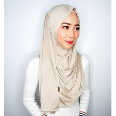 Instant shawl 1.0 (Iron free silky series - Blanched Almond)