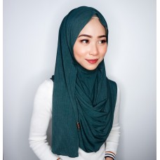 Instant shawl 1.0 (Iron free Pleated series: Pixie Dust Green)