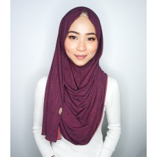 Instant shawl 1.0 (Iron free Dual Shade Series - Burgundy Duo)