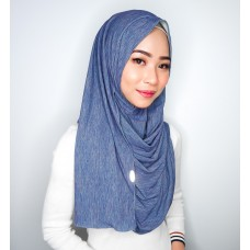 Instant shawl 1.0 (Iron free Dual Shade Series - Denim Blue Duo)