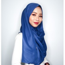 Instant shawl 1.0 (Metallic Crepe Series: Azure Blue)