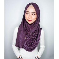 Instant shawl 1.0 (Iron free series - Metallic Grape Jam)