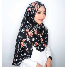 Instant shawl 1.0 (Printed series: Amari - Black)