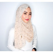 Instant shawl 1.0 (Printed series: Giselle - Wheat)