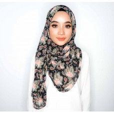 Instant shawl 1.0 (Printed series: Avalyn - Black)