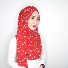 Instant shawl 1.0 (Printed series: Gemma - Red)