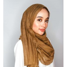 Instant Shawl 1.0 Grid (Camel Brown)