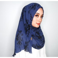 Instant Shawl 1.0 (Pleated print Series: Riley)