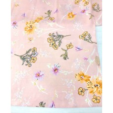 Instant Shawl 1.0 (Mixed crepe printed series: Eleanor in Pink)