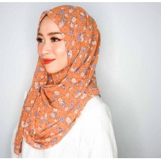 Instant Shawl 1.0 (Chiffon printed series: Sophie in Toffee)