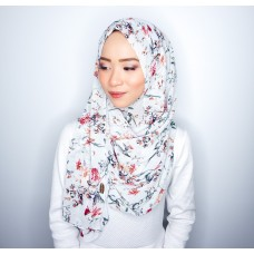 Instant shawl 1.0 (Printed series: Andrea - Light Blue)