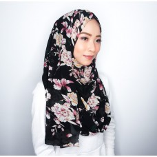 Instant shawl 1.0 (Printed series: Chantelle - Black)