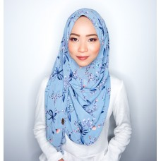 Instant shawl 1.0 (Printed series: Harper - Blue)