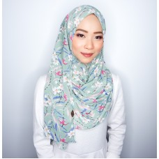 Instant shawl 1.0 (Printed series: Fae - Sage Green)