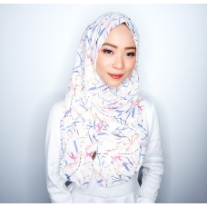 Instant shawl 1.0 (Printed series: Fae - White)