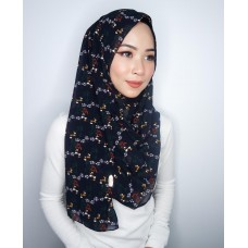 Instant shawl 1.0 (Printed series: Emily - Black)
