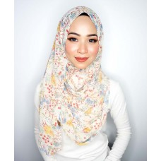 Instant shawl 1.0 (Printed series: Aria - Cream)