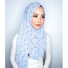 Instant shawl 1.0 (Printed series: Adelia - Pastel Blue)
