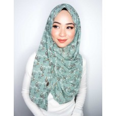 Instant shawl 1.0 (Printed series: Emily - Matcha green)