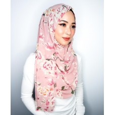 Instant shawl 1.0 (Printed series: Chantelle - Pink Guava)