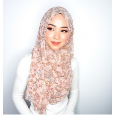Instant shawl 1.0 (Printed series: Cleo - Rose Petal)