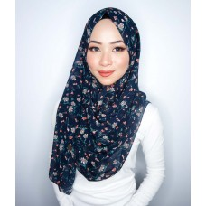 Instant shawl 1.0 (Printed series: Blaire - Navy Blue)