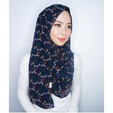 Instant shawl 1.0 (Printed series: Emily - Midnight Blue)