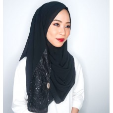 Instant shawl 1.0 (Whimsical strokes series : Black)