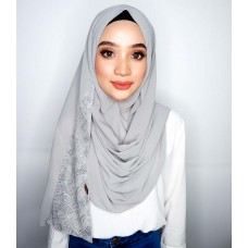 Instant Shawl 1.0 (Whimsical Sequinned Series : Grey)