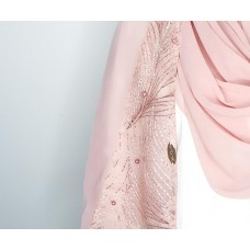 Instant shawl 1.0 (Whimsical strokes series: Pink)