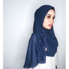 Instant Shawl 1.0 (Whimsical Sequinned Series : Navy Blue)