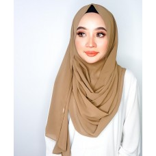Instant Shawl 1.0 Chiffon (Honey Wheat Brown)