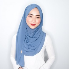 Instant Shawl 1.0 Chiffon (Denim Blue)