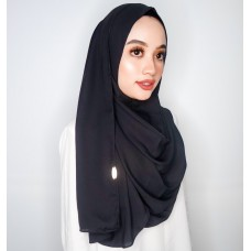 Instant Shawl 1.0 Mixed Crepe (Black)