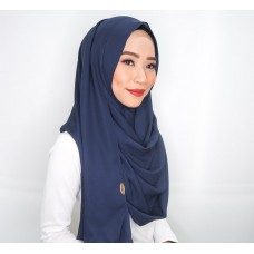 Instant Shawl 1.0 Mixed Crepe (Navy Blue)