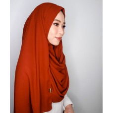 Instant Shawl 1.0 Mixed Crepe (Brick Red)