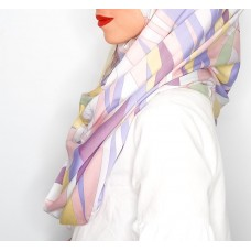 Instant Shawl 1.0 (Satin silk Printed Series: Galactic - Pink)