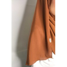 Instant Shawl 1.0 Ribbed Chiffon (Maple Syrup)