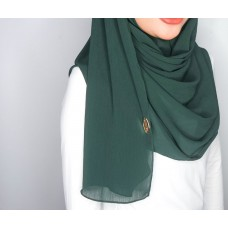 Instant Shawl 1.0 Ribbed Chiffon (Hunter green)