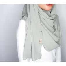 Instant Shawl 1.0 Ribbed Chiffon (Sea salt gray)
