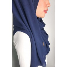 Instant Shawl 1.0 Ribbed Chiffon (Navy Blue)